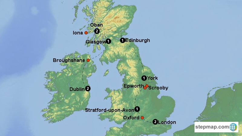 Scrooby England Map.American Roots In The Uk Reformation Tours
