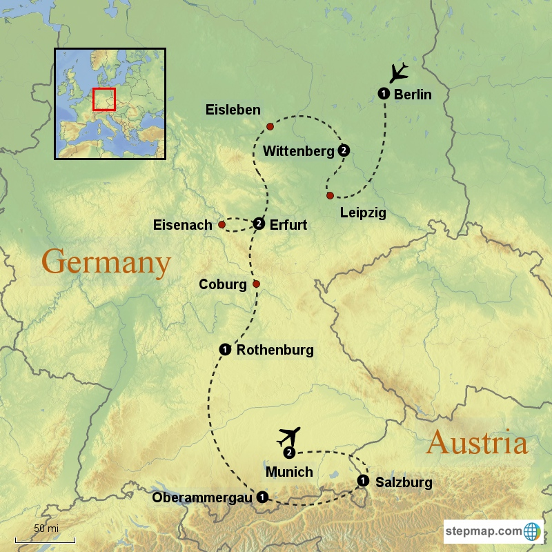 Lutherland Sample Tour Reformation Tours