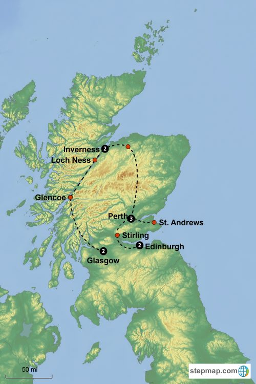 Loch Ness Karte.Mount Pleasant Presbyterian Church Scottish Reformation Tour