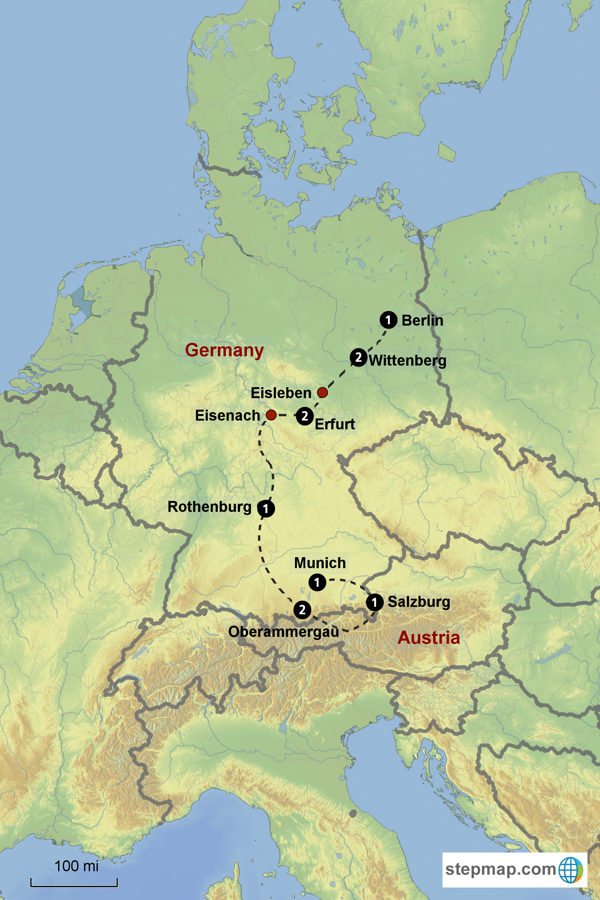 Lutherland Bavaria Tour from September 27October 8 2018