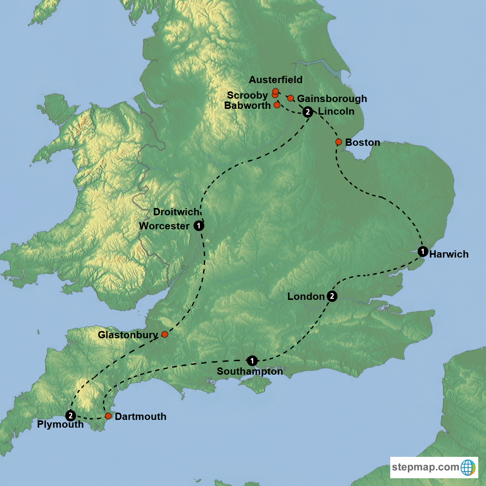 Scrooby England Map.Mayflower Explorer Tour In The Footsteps Of The Pilgrims